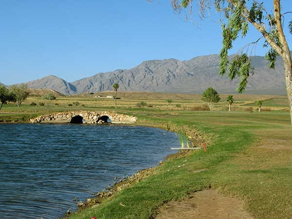 Mesquite golf course pond